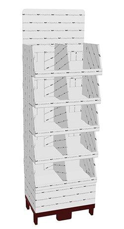 Kvartpalle bakkegulvdisplay - A00976